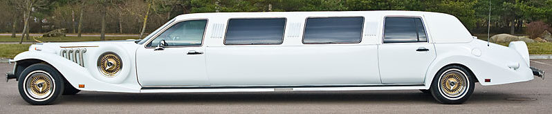 Excalibur Stretch Limousine (white) 8 seats full